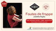 [Archives] – Les mardis à la ferme – Juliette Kapla «Fautes de frappe» – 25 septembre 2018