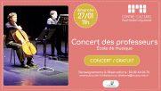 [Archives] – Concert des professeurs – 27 janvier 2019