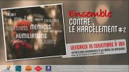 [Archives] – Ensemble contre le harcèlement #2 – 16 novembre