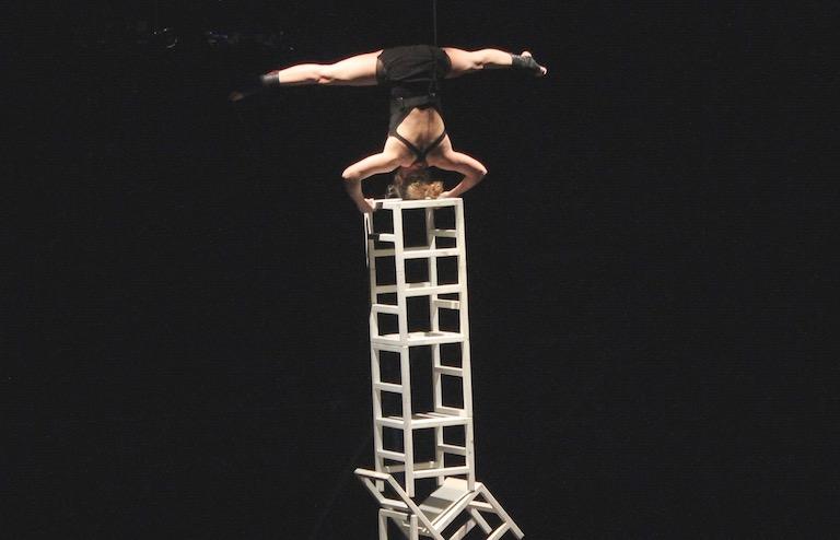 Spectacle de cirque dans le cadre du festival