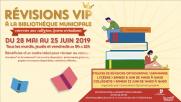 [Archives] – Révisions VIP à la bibliothèque municipale – du 28 mai au 25 juin 2019