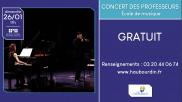 [Archives] – Concert des professeurs – 26 janvier 2020