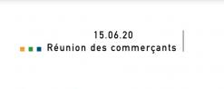 [Commerce] – Réunion plan de relance économique – 15 juin 2020