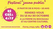 [Jeunesse] – Récréa'days – du 12 au 30 octobre