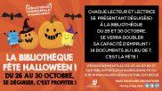 [Bibliothèque] – La bibliothèque fête Halloween – du 26 au 30 octobre