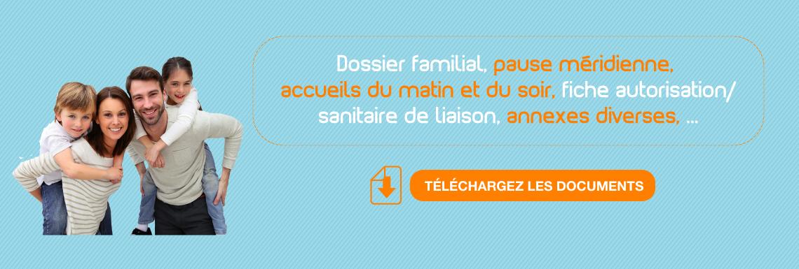 Dossier familial et fiches d'inscription 2021-2022