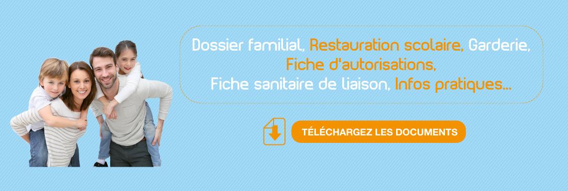 Dossier familial et fiches d'inscriptions 2018-2019