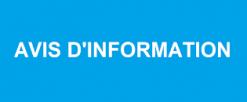 Avis Information –  POSE ET ENTRETIEN MICRO SIGNALÉTIQUE COMMERCIALE ET PUBLIQUE