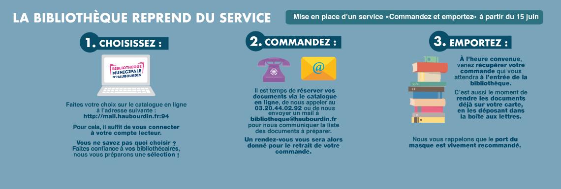 Bibliothèque : mise en place d'un système «commandez & emportez» dès le 15 juin