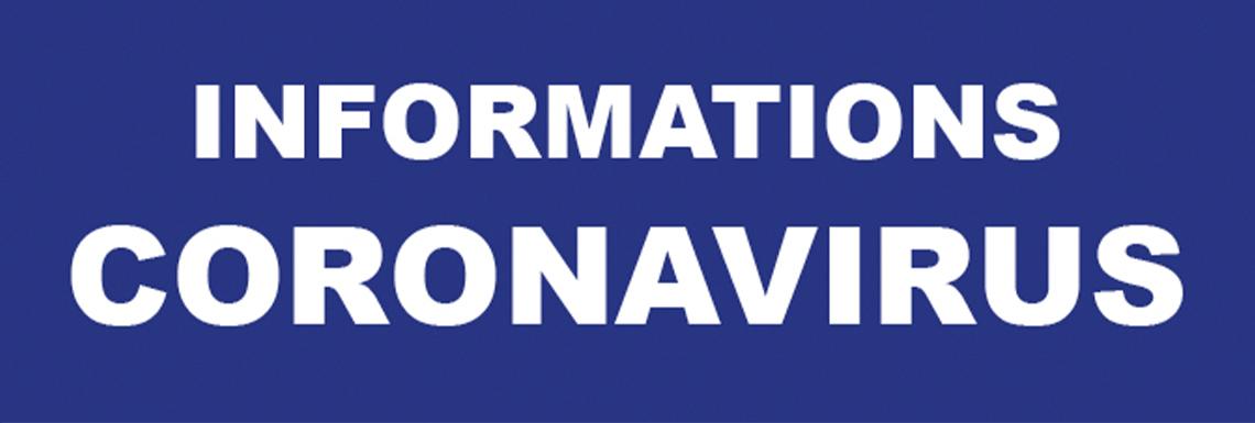 Informations Coronavirus (mise à jour le 16 novembre)