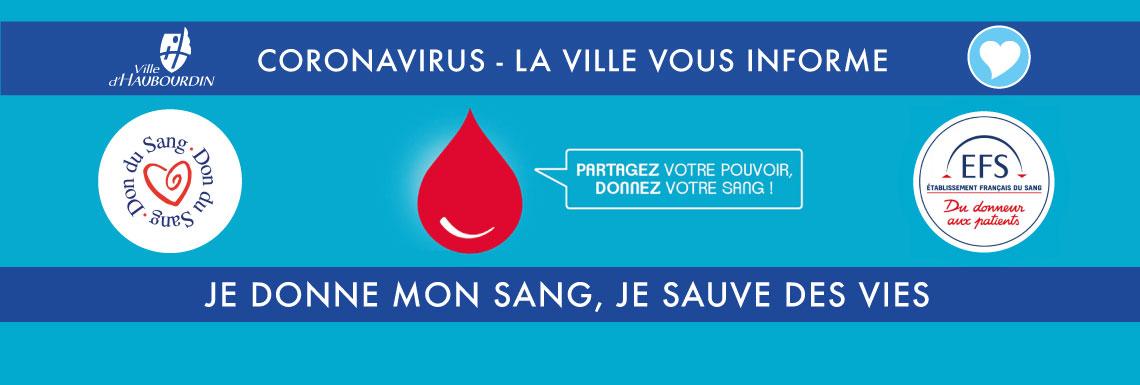 Don du sang – jeudi 2 avril 2020