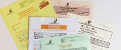 Dossier familial et fiches d'inscriptions